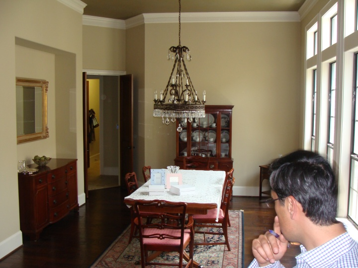 Before Shot of Dining Room